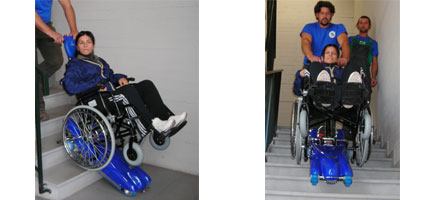 Montascale portatile a cingoli riconducibile roma e for Piani domestici accessibili ai disabili