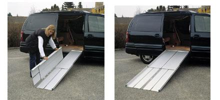 Rampe portatili per disabili in alluminio ripiegabili a for Rampe pieghevoli alluminio