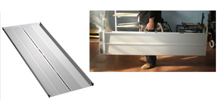 Rampe portatili per disabili in alluminio ripiegabili for Rampe pieghevoli alluminio